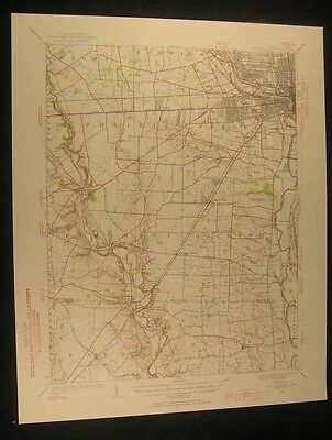 West Columbus Ohio Derby Orient Rome 1955 vintage USGS original Topo chart map