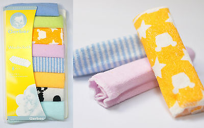 NEW Gerber Washcloth 8 per Pack Soft Knit Terry Colourful Cute Good Quality