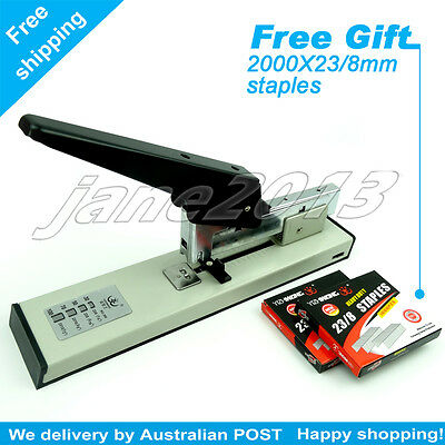 Heavy Duty Large Stapler Office Stationary +FREE GIFT(2000X23/8mm staples)