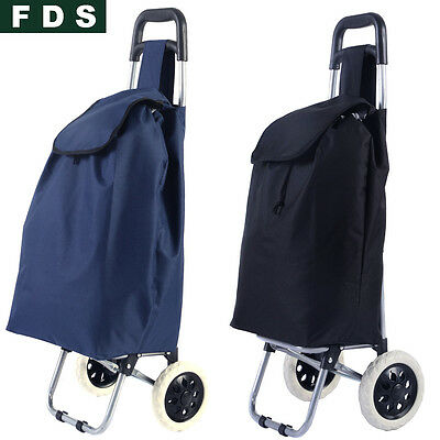 FDS Folding Shopping Trolley Cart Bag Wheeled Rolling Utility Luggage Grocery