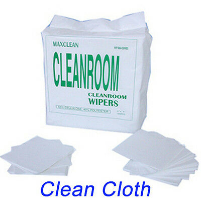 "150x 6""x6"" Cleanroom Wiper Dustless Cloth For Laptop Phone LCD Camera Cleaning"