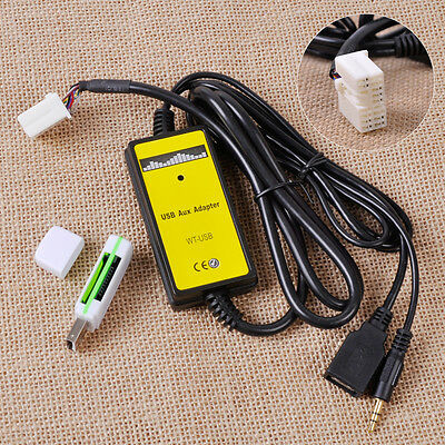 NEW AUX Input MP3 CD Interface Adapter Changer USB Cable+Reader for Honda Accord