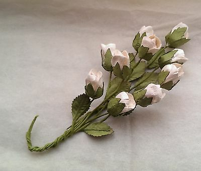 10 Bunched Roses-Mulberry Paper/Handmade/embellishment/craft/cardmaking/DD5W