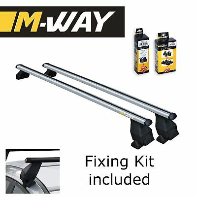M-WAY Menabo Aero Fit Roof Rack Space Bars Rails for NISSAN Leaf 5 Door 10>