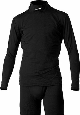 Maglia termica antivento unisex Alpinestars Thermal Tech Race Base LayerTop nero