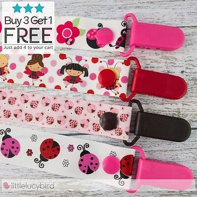 Ladybug Dummy Clip - Pacifier Clips - Soother Chain Animals - Baby Gift