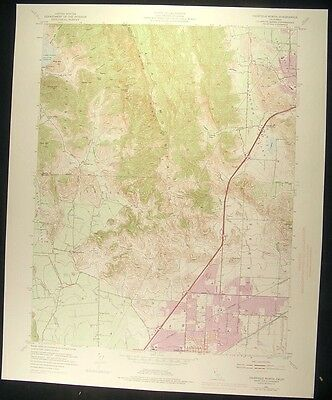 Fairfield North California Tolenas 1974 vintage USGS original Topo chart map
