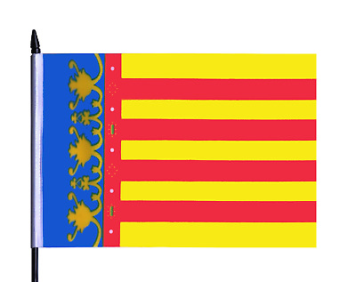 Spain Valencia Medium Hand Waving Flag