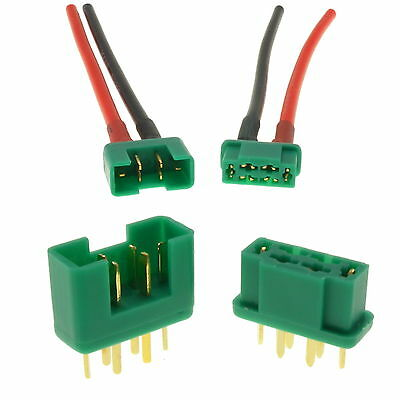 Multiplex MPX RC Connectors Male Plug & Female Socket + Silicone Wire UK Seller