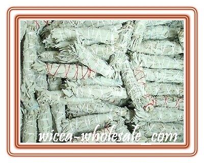 """LOT of 10 white Sage Smudge 4 1/2 to 5"""" Stick House Cleansing Negativity Removal"""