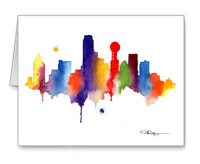 DALLAS SKYLINE Note Cards With Envelopes