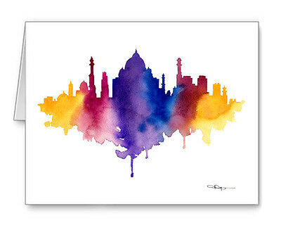 DELHI SKYLINE Note Cards With Envelopes