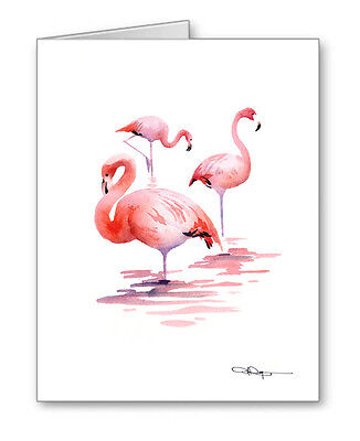 FLAMINGOS Note Cards With Envelopes