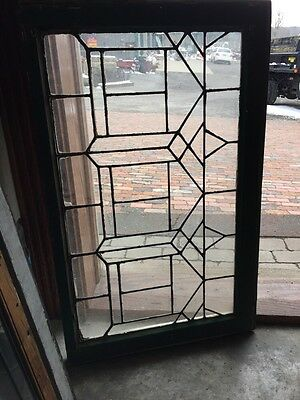 Sg 627 Antique Leaded Glass Transom Window 21.25 X 34.25""
