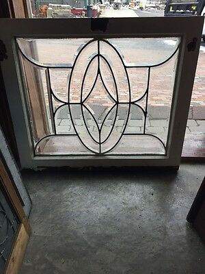 "Sg 630 And Take All Beveled Glass Window 28.5"" X 24 And Three-Quarter Inch"