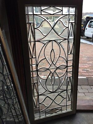 Sg 636 Antique All Beveled Glass Knot Design Window