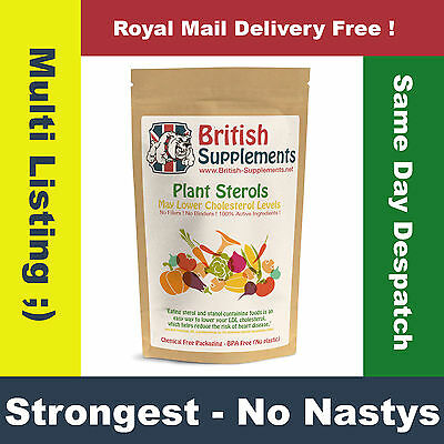Plant sterols Capsules Proven to Naturally Lower Cholesterol Uk Made, No Nastys