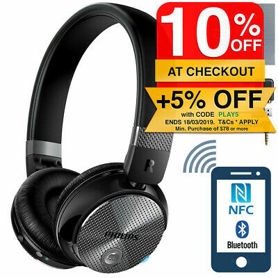 Philips SHB8850NC Active Noise-Cancelling ANC Headphones w/mic for Smartphones