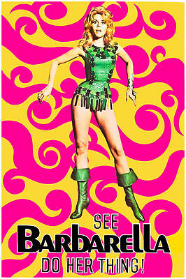 BM03 VINTAGE BARBARELLA MOVIE POSTER A4 PRINT