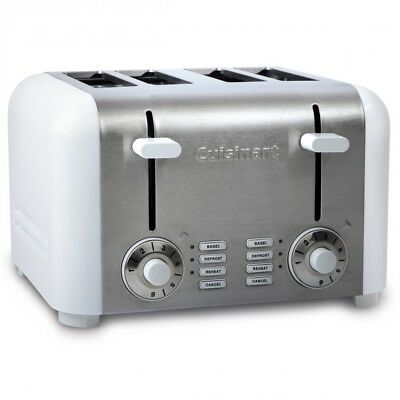 Cuisinart 4-Slice Compact Toaster - Stainless & White