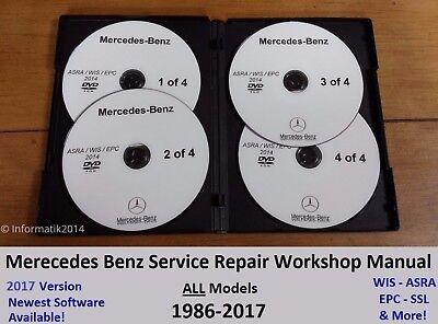For MERCEDES BENZ ALL MODELS SERVICE REPAIR WORKSHOP MANUAL FACTORY DVD/CD GUIDE