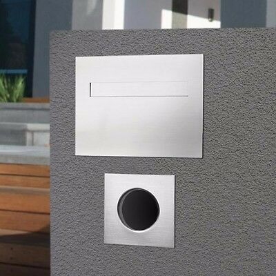 Milkcan Letterbox Palazzo Mailbox Brick In Set + Paper Holders Stainless Steel