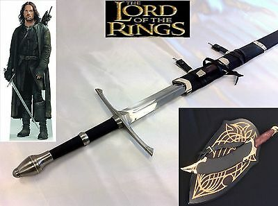 Lord of the Rings/ The Hobbit Aragorn's Strider Sword/Elven Strider Knife Set