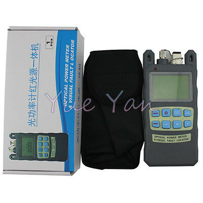 Fiber Optical Power Meter -70~+10dBm 10mw 10km Cable Tester Visual Fault Locator