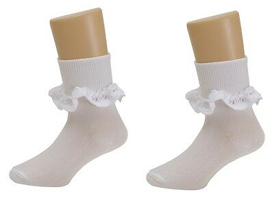 12 Pairs Girls Kids Children Fille Lace  Frilly Frills Cotton Ankle Baby Socks