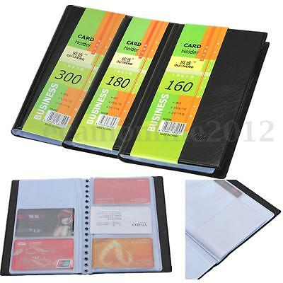 160/240/300 Sheet Business Name ID Credit Card Leather Holder Book Case Wallet