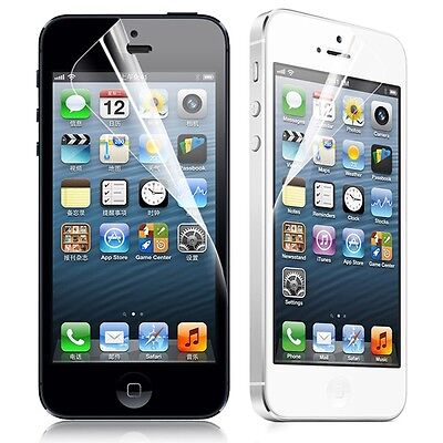 5 x LCD SCREEN PROTECTOR FOR APPLE IPHONE 5 5S FRONT
