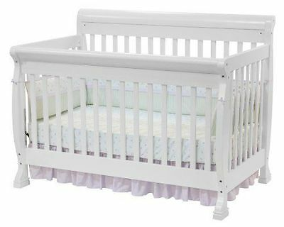 DaVinci Kalani 4 in 1 Convertible CRIB, Wooden Adjustable BABY CRIB, White