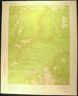 Foresthill California Placer County 1957 vintage USGS original Topo chart map