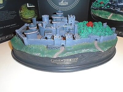 """GAME OF THRONES """"WINTERFELL DESK TOP SCULPTURE"""" NEW in factory sealed box"""