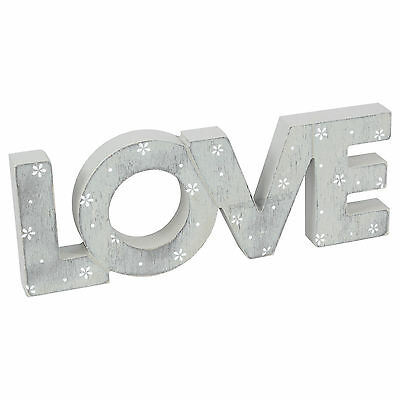 Disty Daisy Freestanding LOVE Letters Decorative Word Art Ornament Shabby Chic