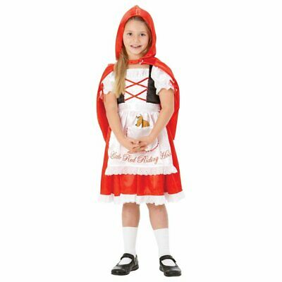 Little Red Riding Hood Book Day Fairytale Kids Girls Child Fancy Dress Costume