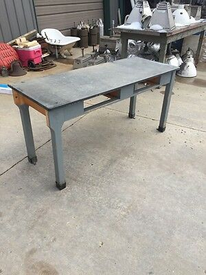 Antique Hard Maple Soapstone Top Table 5 Foot Long