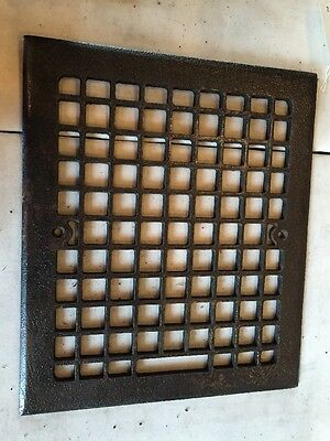 Antique Cast-Iron Squares Patten Heating Grate  Face Tc 104