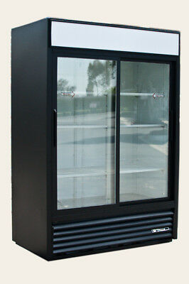 True GDM-47 Glass Sliding 2 Door Commercial Display Merchandiser Refrigerator