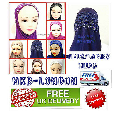 Muslim Girls Ladies Kids Readymade Hijab  Headscarf Girls  Hijab  New Design