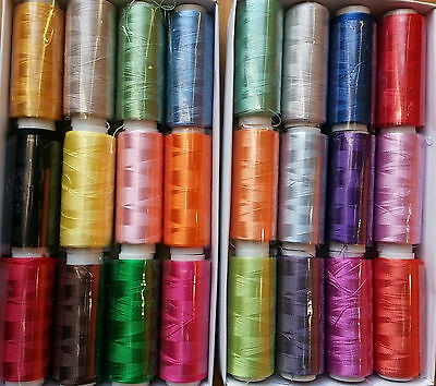 25 Spools Embroidery Silk Rayon Threads Brother, Janome Singer more Best Quality