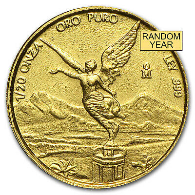 1/20 oz Gold Mexican Onza or Libertad Coin - Random Year - SKU #28695