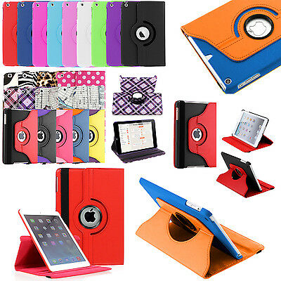 For Apple iPad Mini 4 PU Leather Case 360 Rotating Cover w/ stand +Screen +pen