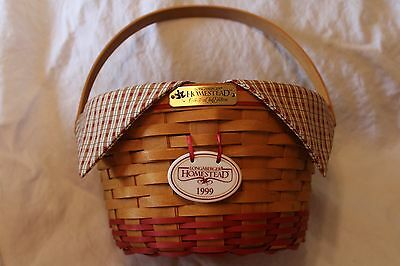 1999 Homestead Collectors Club Edition Longaberger Basket Combo w/tie on