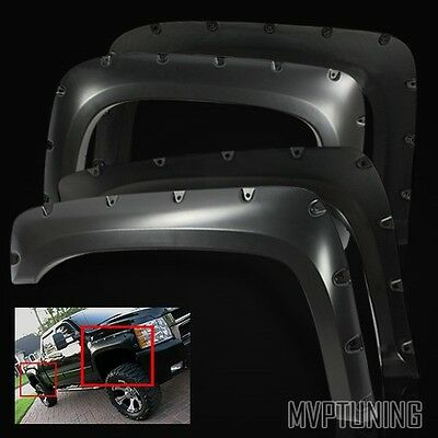 For 2007-2013 Silverado 1500/2500/3500 HD Pocket Rivet Style Fender Flares Guard