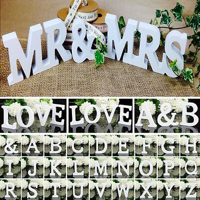 DIY Wooden Wood Letter Alphabet Word Free Standing Wedding Party Room Home Decor
