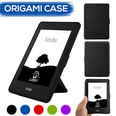 Origami Magnetic PU Leather Case Cover for Amazon Kindle Paperwhite Voyage 8th