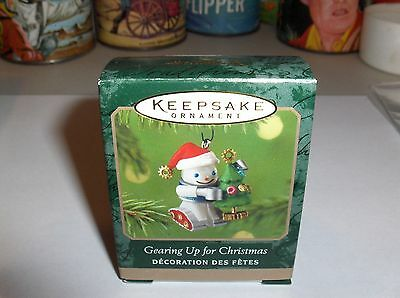 Gearing Up For Christmas`2001`Miniature-Little Elfbots,Hallmark Ornament->Nice