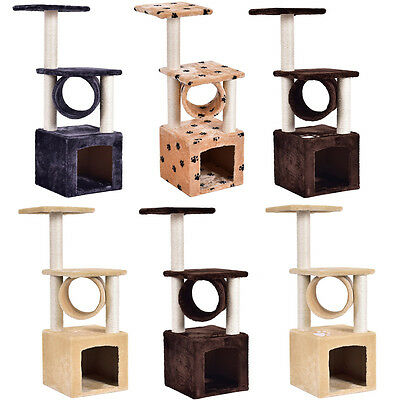 Cat Kitten Tree Scratching Post Toy Activity Centre Pet Play Climbing Area Bed