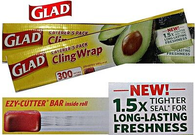 Bulk Glad Cling Wrap 300 Metre x 33cm Food Wrap Film Caterers Pack Serveware New